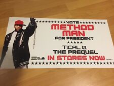 METHOD MAN FOR PRESIDENT Tical 2-Sided Promo Poster Hip Hop Rap WU-TANG CLAN
