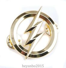 US THE FLASH METAL BADGES SILVER PERSONALITY BADGE-COLOUR GOLD