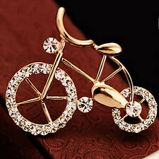 Lovely New Brooch Pin Fashion Bike Buckle Bicycle Pectoral Flower Brooches LECd