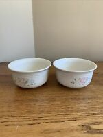 "SET OF 2 Pfaltzgraff TEA ROSE USA 5-5/8"" Everything Soup Cereal Bowls; EUC!"