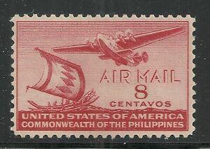 U.S. Possession Philippines Airmail stamp scott c59 - 8 centavos issue - mlh  2x