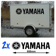 2x Lrg Yamaha Sticker decals Moto MX Trailer Quad Ski YA-04