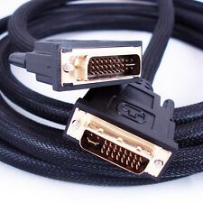 5M DVI-I Cable - Quality LCD/PC Monitor Lead - Male Plug to Male Dual Link Video