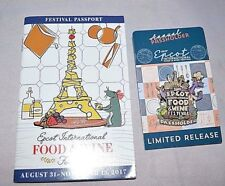 New Disney 2017 Epcot Food & Wine Festival - Figment Passholder Pin Passport LR