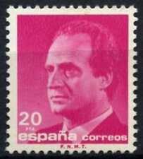 España 1985-92 SG#2825, 20p el rey Juan Carlos I estampillada sin montar o nunca montada definitiva #D64396