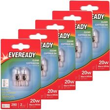 10 x EVEREADY G4 20W Halogen Capsule Bulb CLEAR 280 Lumens 12V Lamp