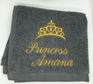 Personalised Face Cloth Towel Name Princess Tiara Gift Present Birthday 👑