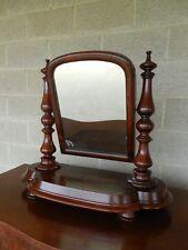 Antique Empire Period Mahogany Dressing Mirror