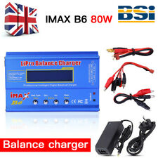 UK FAST iMAX B6 80W AC Lipo NiMH Polymer RC LCD Digital Battery Balance Charger