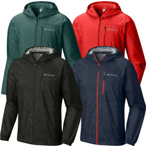 "New Mens Columbia ""Morning View"" Packable Hooded Windbreaker Wind  Rain Jacket"