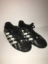 Spaulding Black/Silver Youth Unisex Soccer Cleats Shoes Size 2-Cleaned-Ships N24