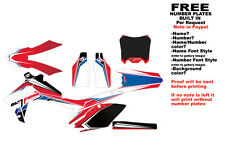 "DFR CRF250R GRAPHICS ""BUTTER"" RED/WHITE/BLUE 2014-2016 CRF 250 HONDA"