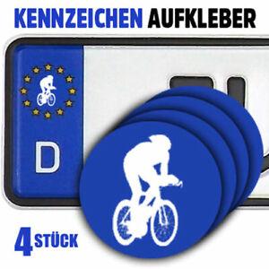 Rennrad Radfahren Fahrrad Kennzeichen-Vinyl-Aufkleber 4Stück für EU-Kreis