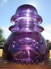 Vintage hemingray 42 CD 154 Glass Insulator Colored / Stained Deep Purple