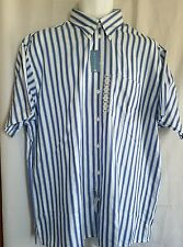 NWT Mens Kenneth Cole Reaction Dress Shirt Size L 16.5 Short Sleeves Stripes
