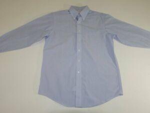 Brooks Brothers 346 Men's Non Iron Regular Fit Dress Shirt 16 - 32 / 33 Blue
