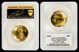2009 $20 Gold Ultra High Relief PCGS MS70PL - READ!! - JUST A POP 3 COIN!  WOW!!