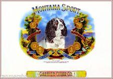 Montana Sport English Springer Spaniel Dog Vintage Cigar Box Crate Label Print