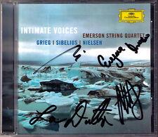 EMERSON STRING QUARTET Signiert GRIEG SIBELIUS NIELSEN Intimate Voices DG CD