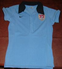 NEW Nike Womens USA US Soccer Jersey Polo Blue Large