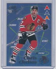 1998-99 REVOLUTION CHRIS CHELIOS 3-PRONGED ATTACK PARALLEL /99 3 BLACKHAWKS