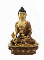 Soprammobile Tibetano Budda Ratnasambhava Rame E Oro Nepal Budda AFR8-4383