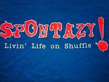 SPONTAZY! Skateboard Tee-Shirt, Blue, XL