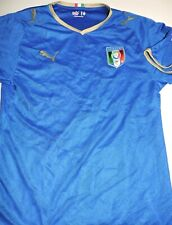 TEAM ITALY jersey soccer football vintage patch small Puma blue