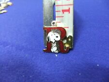 vtg snoopy pendant charm letter initial R red 1970s peanuts schulz cartoon