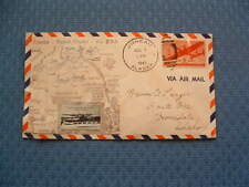 Envelope Cover 1941 Inauguration of Air Mail Service Alaska to The States