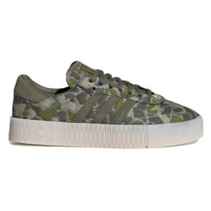 Adidas SambaRose Camo Patch Women's Athletic Sneaker Casual Shoe Army Green