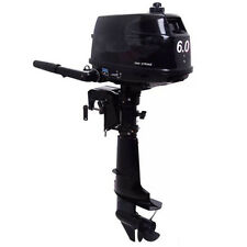 6 HP 2 Stroke Outboard Motor Tiller Shaft Boat Engine with Water Cooling System