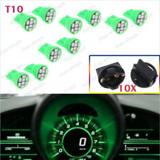 20X Green T10 194 LED Bulbs With Twist Lock Sockets Instrument Panel Lights