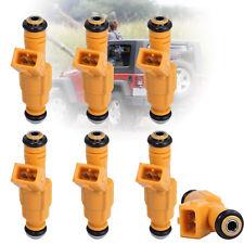 6PC Fuel Injectors For 91-98 JEEP Wrangler 4.0L 0280155700 EV1 4 Hole 0280155710
