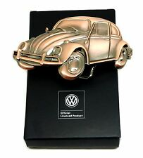 Volkswagen Belt Buckle - Beetle - Copper Finish - Authentic Officially Licensed