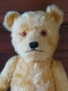 Vintage Hard Filled Jointed Mohair Teddy Bear