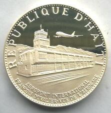 Haiti 1971 Airport 25 Gourde 3.77oz Silver Coin,Proof