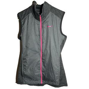 Nike Golf Dri-fit Tour Performance Women's S Lightweight Vest Gray Pink