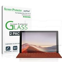 Microsoft Surface Pro 7/6/5/4 - amFilm Tempered Glass Screen Protector (2 Pack)