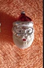 Blown Mercury Flocked Christmas Two / Double Faced Santa Claus Red Hat