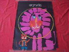 CYRK -ORIGINAL-1960'S POLISH CIRCUS POSTER- AMAZING PINK LION SWIERRY ART!