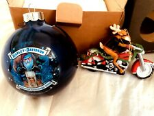 Vintage Harley Davidson  Christmas Tree Ornament-(#9)