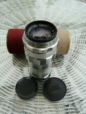 VINTAGE CHROME TRAVERNON SCHACHT ULM DONAU LENS 1:4,5/135mm FOR EXACTA, INC BOX