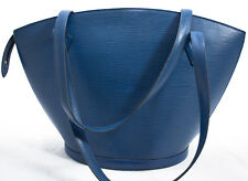 Louis Vuitton EPI Saint Jacques GM A TRACOLLA BAG SHOPPER SHOPPING BLUE BLU