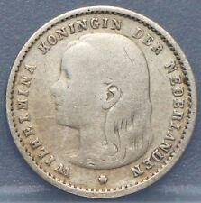 1894 Nederland The Netherlands  10 cent, dubbeltje. Wilhelmina. KM# 116.