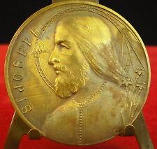 Médaille Saint Joseph San José Compas France A J Corbierre Medal