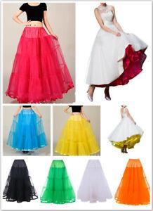 "AU SELLER 40"" Long Underskirt 50s Rockabilly Bridal Petticoat Dance Tutu da032"