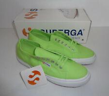 Superga 2750 Cotu Classic Canvas Acid Green Mens Shoes Trainers RRP £50 Size 11