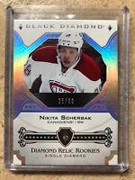 17-18 UD Black Diamond Rookies Relic Single Diamond #BDR-NS NIKITA SCHERBAK /99