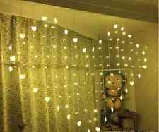 Curtain Lights Window Heart Fairy LED String Christmas Wedding Party 2X1.5M